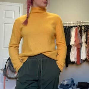 Yellow knit sweater from Nordstrom
